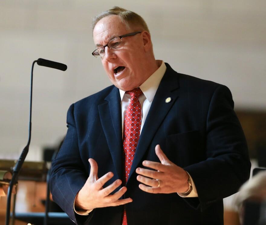 Nebraska state Sen. Bill Kintner, seen in April, is a member of Ted Cruz's leadership team in Nebraska.