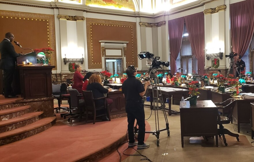The Board of Aldermen chambers on Dec. 13, 2019.