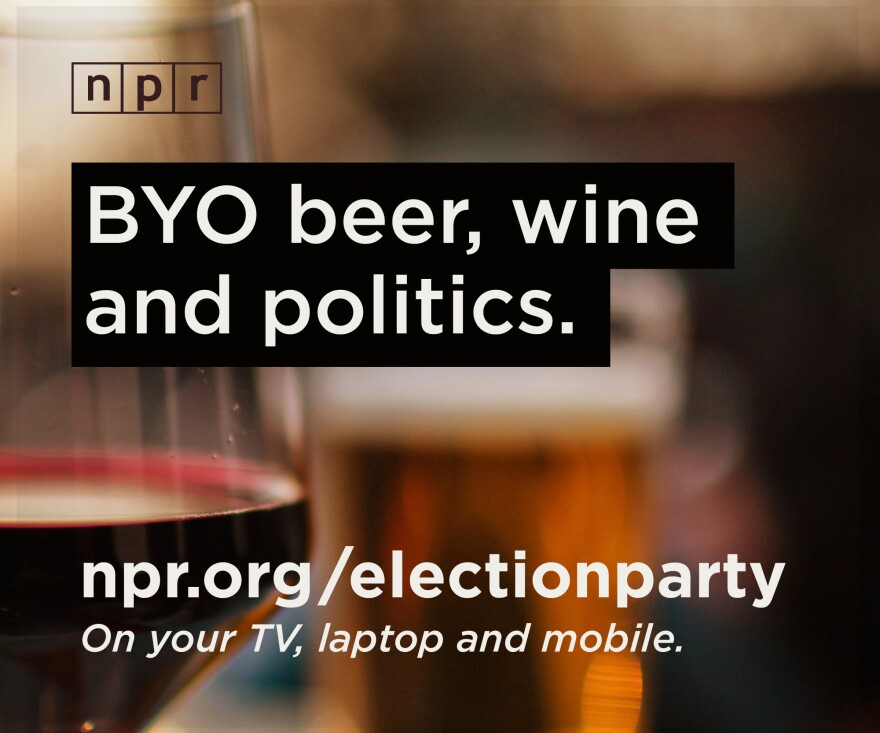 "Join NPR on Tuesday night for a virtual election party. Host your own party and <strong><a href=""http://elections.npr.org/?utm_medium=social&utm_campaign=election2014&utm_content=BYOB"">invite your friends</a>.</strong>"
