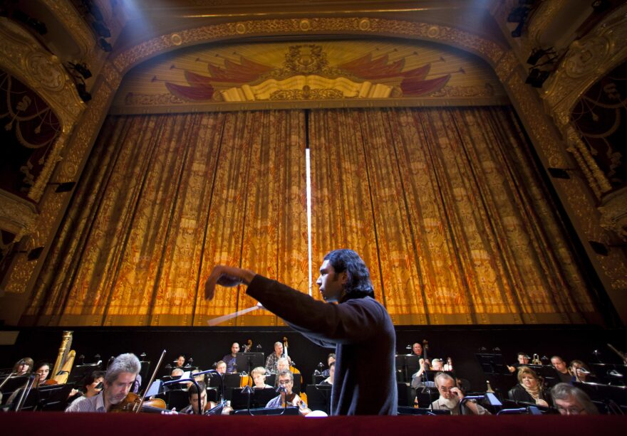 A dress rehearsal of Ruslan and Ludmila, a 1842 opera by Russian composer Mikhail Glinka in Moscow,  Russia. (Alexander Zemlianichenko/AP)