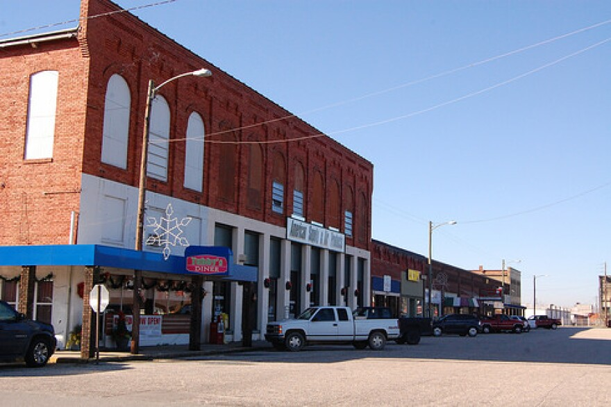 An image of the historic Erwin shopping district in Harnett County