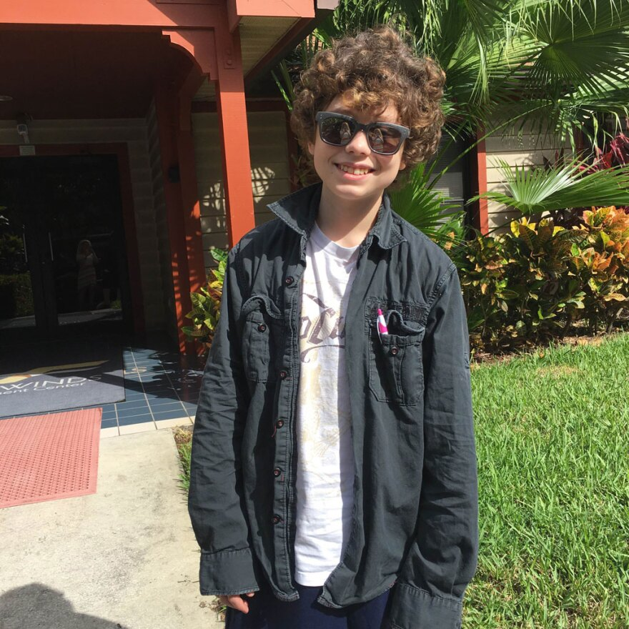 Malik Staton, 13, in October outside of Fairwinds Treatment Center in Clearwater.