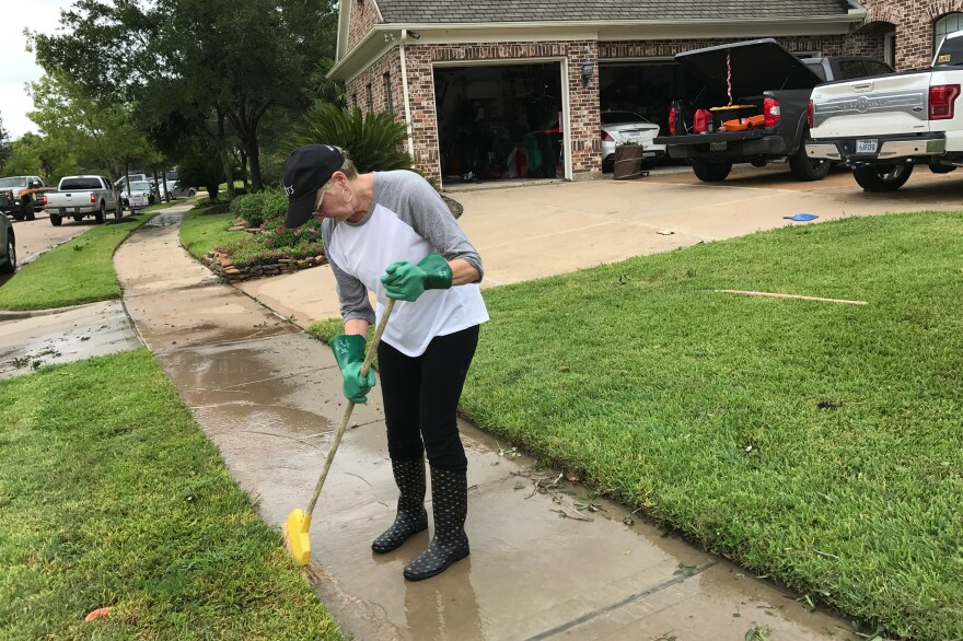 """Linda Varnado says she and her husband had anticipated a lot of rain but not strong winds. """"I was not expecting this force tearing through my neighborhood."""""""