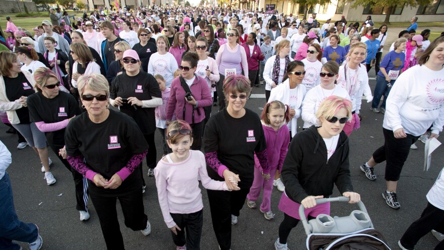 An estimated 45,000 people took part in the Susan B. Komen Race for the Cure in Little Rock, Ark., in Oct. 2010. But after a controversy involving potential cuts to  funding of Planned Parenthood earlier this year, participation in fundraising races has dropped.