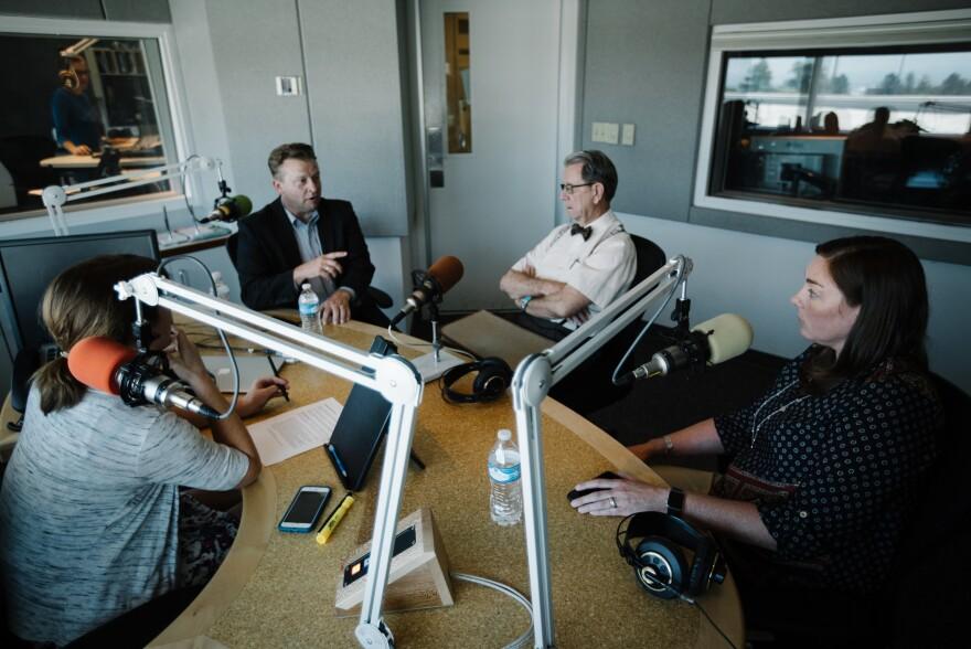 Todd Weiler, David Irvine, Kate Bradshaw and Julia Ritchey converse in studio.