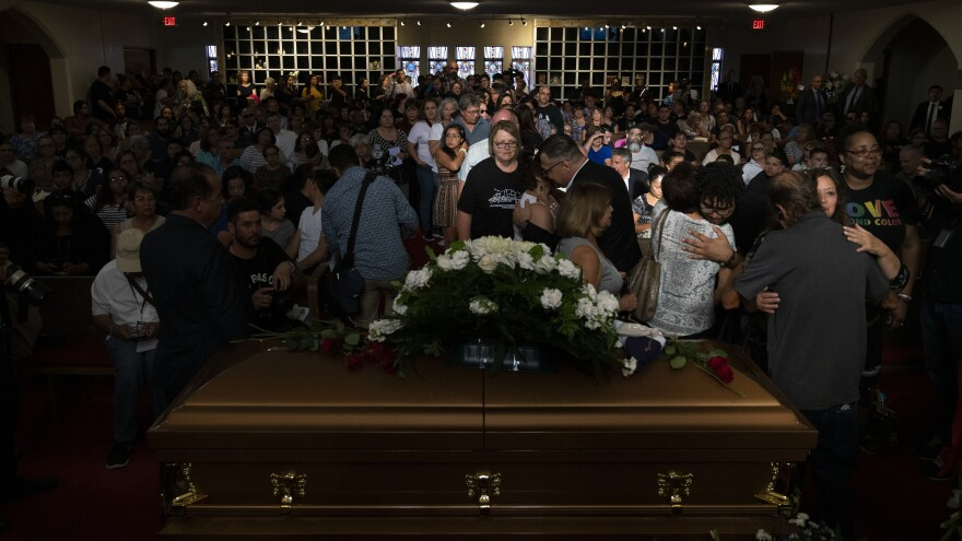 """I think it was a way of the community to mourn the whole situation,"" Salvador Perches, owner of Perches Funeral Home, said of the crowds at Margie Reckard's memorial service."