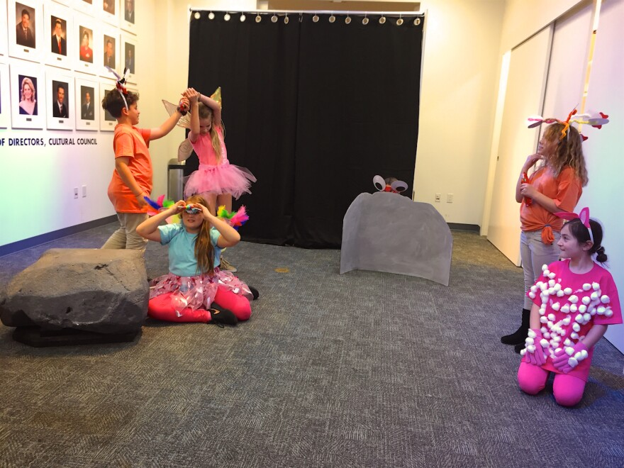 """Students from North Grade Elementary in Lake Worth perform their three act opera, """"The Adventures of Lola & Friends,"""" at the Cultural Council of Palm Beach County in Lake Worth on March 14, 2018."""
