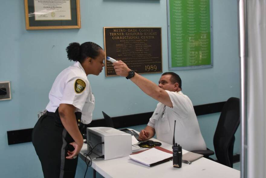 More than a dozen Miami Dade corrections officers and employees have tested positive for the coronavirus. Like police departments, paramedics and hospitals, they have also run low on masks, gloves and hand sanitizer.