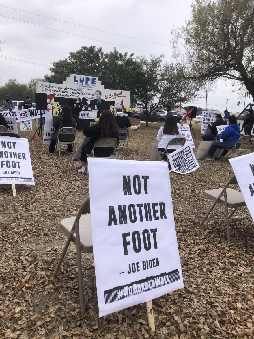 Activists from Laredo and the Rio Grande Valley held counter-rally to Trump's Alamo visit at the headquarters of La Unión del Pueblo Entero in San Juan.