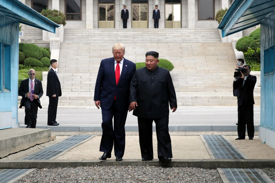 North Korean leader Kim Jong Un and President Trump met in June inside the Demilitarized Zone separating South and North Korea.