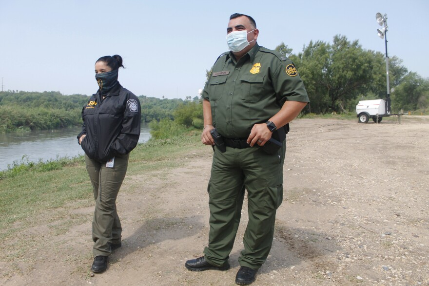 Sara Melendez (left) is a public affairs officer with U.S. Customs and Border Protection and Rafael Garza is a special operations supervisor with the Border Patrol Sector in Laredo.