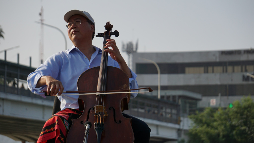Yo-Yo Ma brought his Bach Project to the sister cities of Laredo, Texas, and Nuevo Laredo, Mexico. The project uses the music of Johann Sebastian Bach to explore connections between cultures.