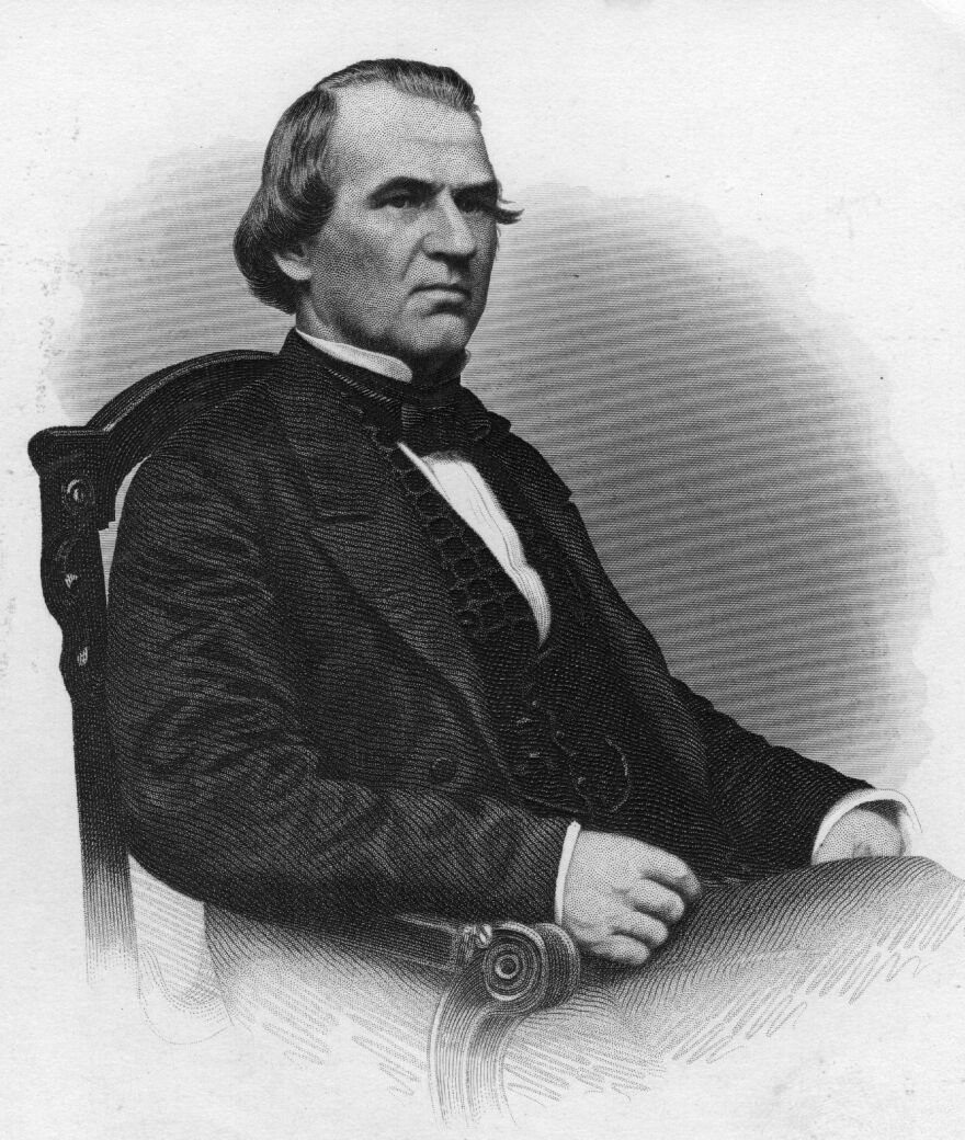 Congress tried to remove President Andrew Johnson in 1868.