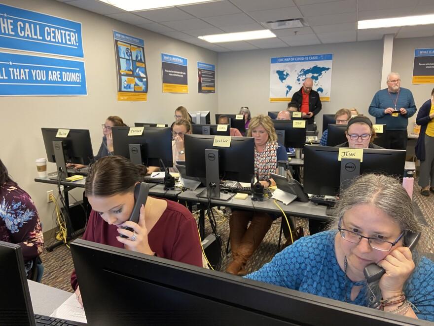Coronavirus hotline call center