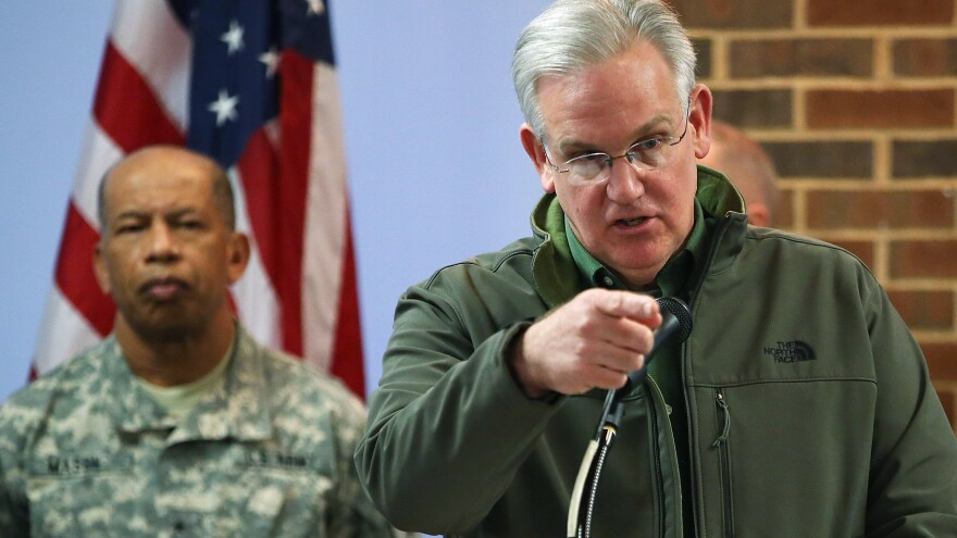 "Missouri Gov. Jay Nixon said that parts of Ferguson were ""a heartbreaking sight"" Tuesday, with residents afraid to go outside."