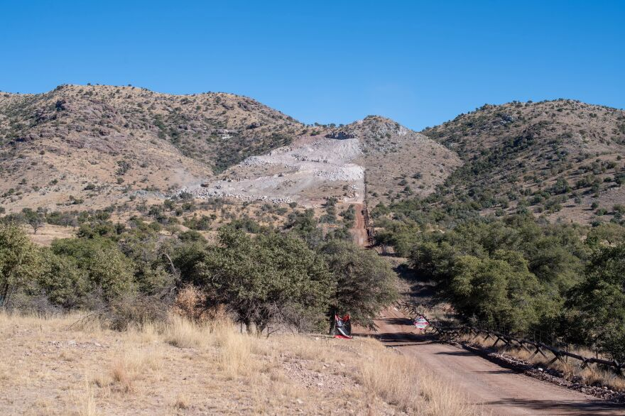 Contractors are building access roads and retaining walls in this protected wilderness in Arizona's Coronado National Memorial to erect President Trump's border barrier.