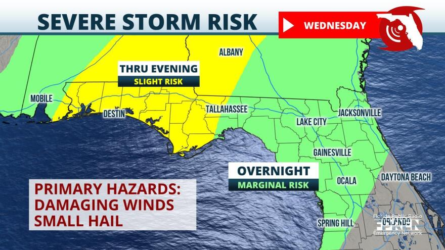 Storm Risk Wednesday night into Thursday