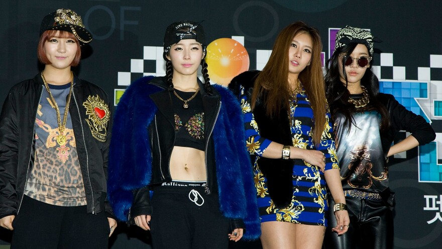 The K-pop idol group GLAM, photographed on Dec. 29, 2012 in Seoul.