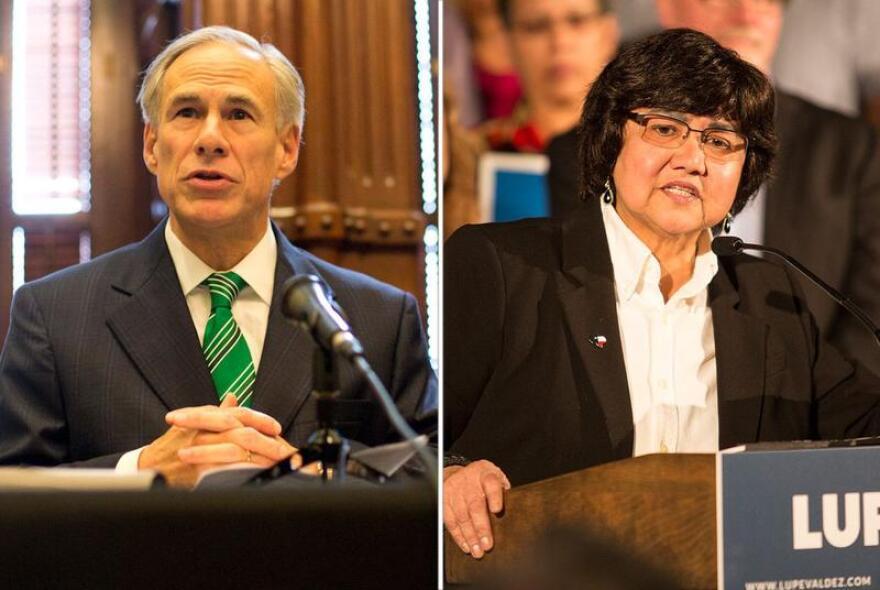 Texas Gov. Greg Abbott is campaigning for re-election against Democratic challenger Lupe Valdez.