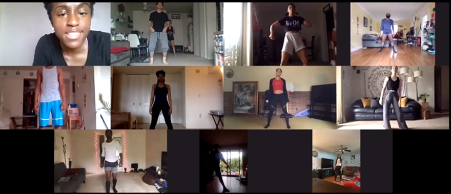 Throughout the coronavirus pandemic, DCDC choreographers and dancers created dance together virtually.