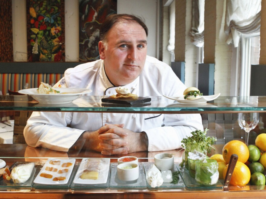 <p>Chef Jose Andres at his avant garde Minibar restaurant in Washington. Andres' experiments with gelatins have helped make him one of the most innovative chefs in the country.</p>