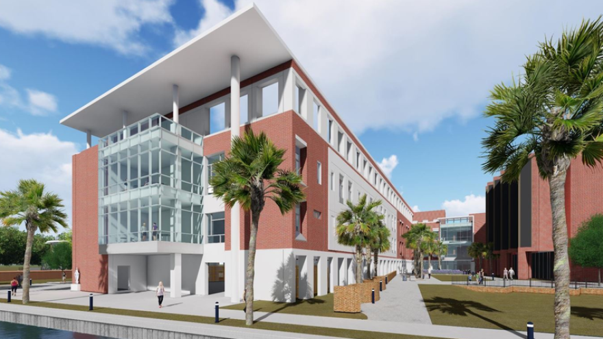 The city has issued a permit for a new heart and vascular pavilion at St. Vincent's HealthCare's Riverside campus.