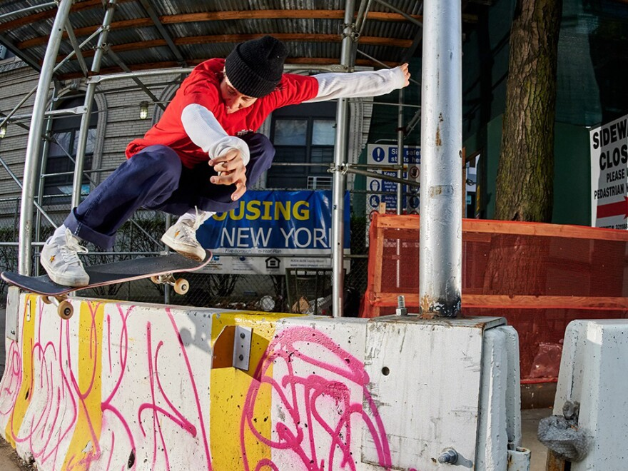 Alexis Sablone says she's constantly looking for skate spots.