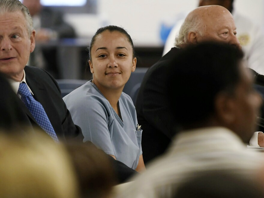 Cyntoia Brown, a woman serving a life sentence for killing a man when she was 16, appeared during her clemency hearing in May 2018. Brown and her supporters for years have maintained that the 2004 killing was an act of self-defense.