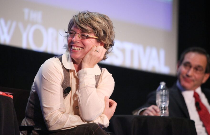 Historian and New Yorker staff writer Jill Lepore speaks at the magazine's festival in 2010.