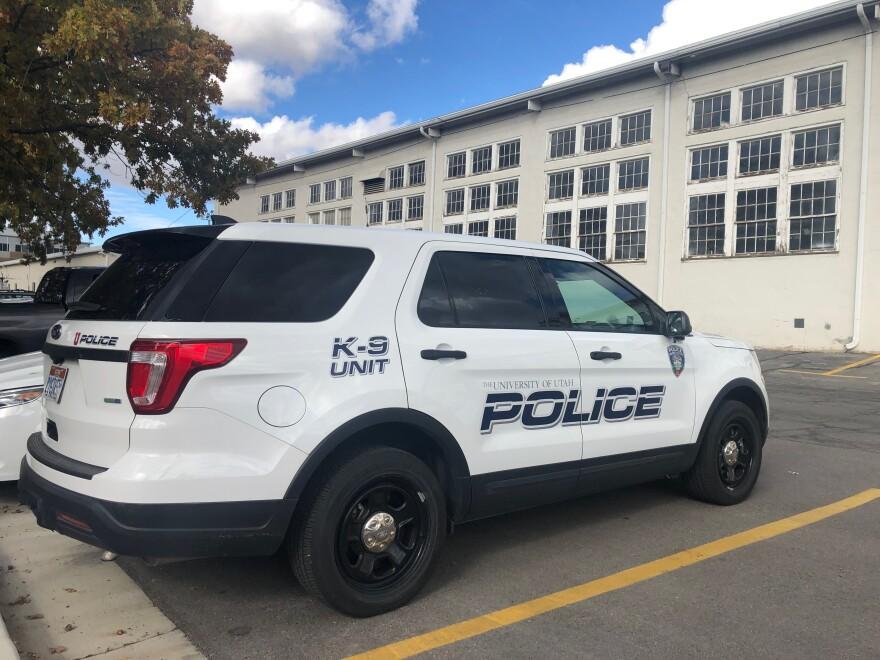 Photo of a University of Utah patrol car