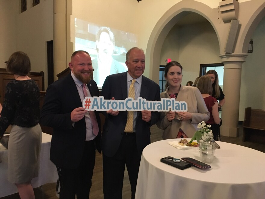 Akron mayor and staff at Cultural Plan launch