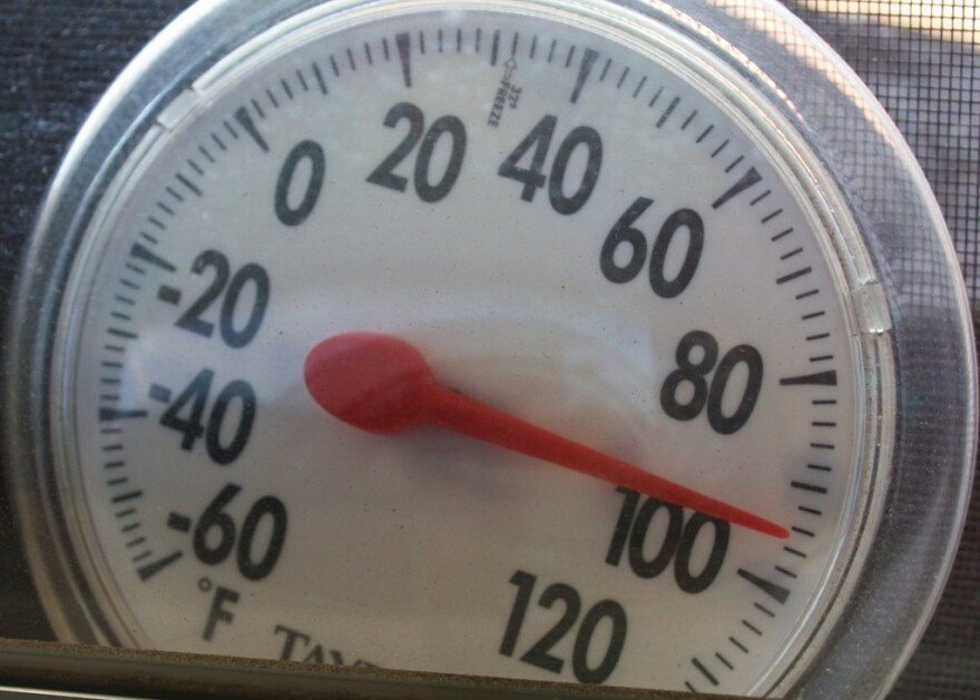 thermometer showing high heat