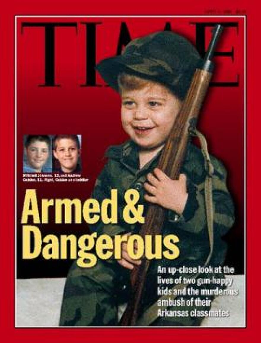 A Time magazine cover from April 6, 1998 precipitated by the shooting days earlier at Westside Middle School in Jonesboro offered a grim prediction for the future of America's schoolchildren.