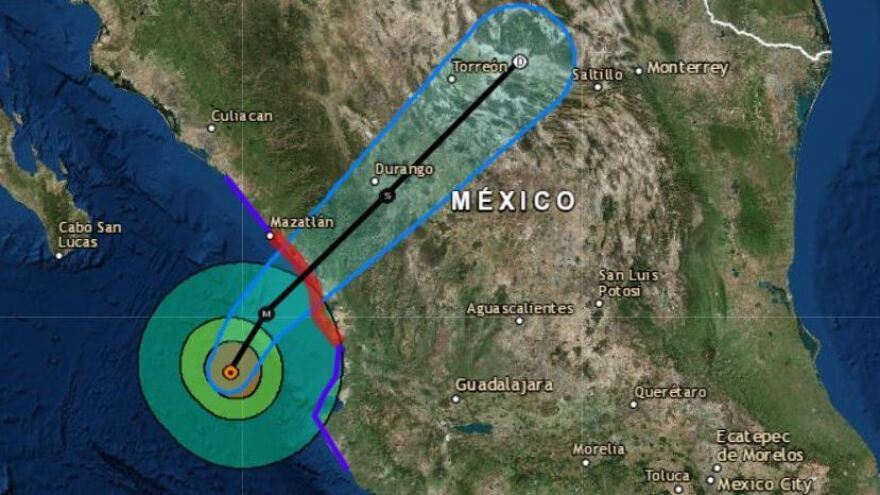 Hurricane Willa has made landfall as a Category 3 storm near Isla del Bosque in Sinaloa.