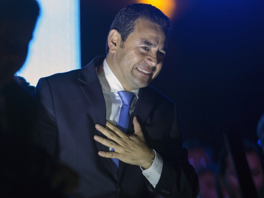 Jimmy Morales, the National Front of Convergence party presidential candidate and former television comedian, won a presidential runoff election in Guatemala on Sunday.