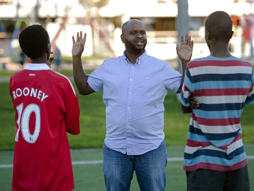 Ahmed Ismail, a soccer coach, runs the West Bank Athletic Club in Minneapolis. His players practice near a large Somali community where young people have been recruited to fight in overseas conflicts.