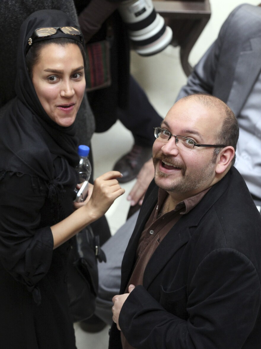 A 2013 photo shows <em>Washington Post</em> reporter Jason Rezaian and his wife, Yeganeh Salehi, a correspondent for the Abu Dhabi-based newspaper <em>The National</em>. Both of them were in an Iranian court Tuesday.