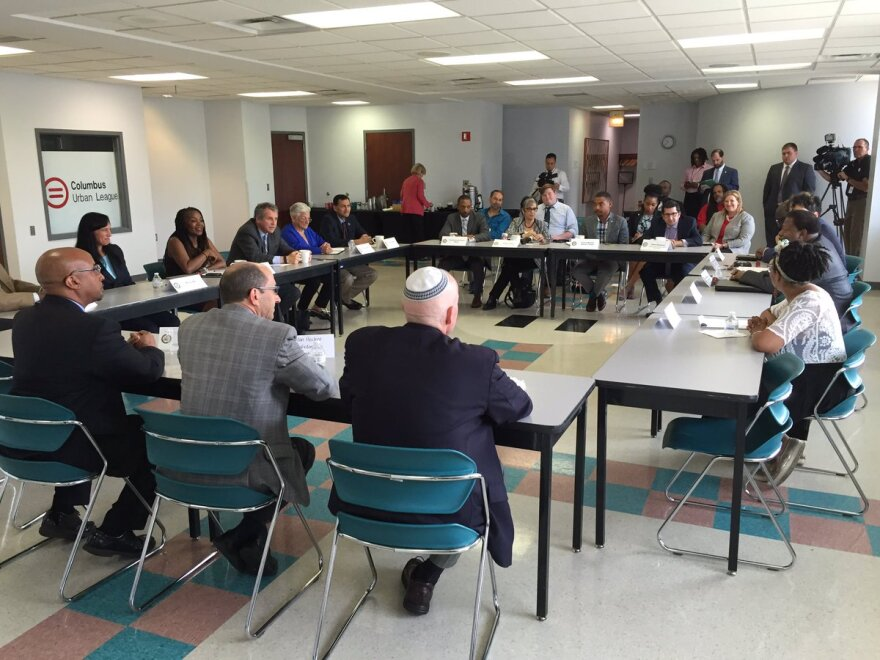 photo of Sen. Brown civil right community group meeting