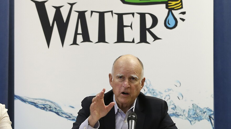 The decrease in water usage comes from statewide mandatory water cuts that Gov. Jerry Brown put in place.
