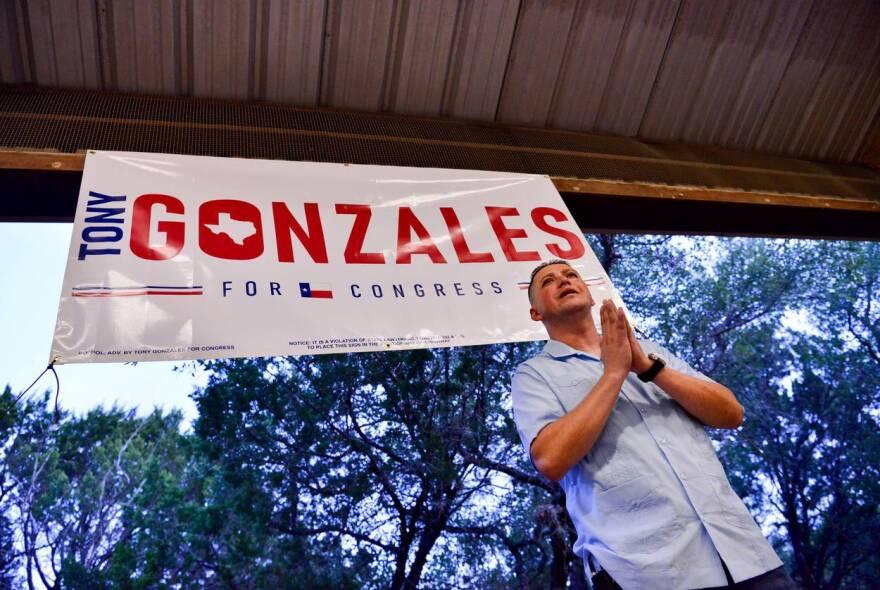 Tony Gonzales, a San Antonio native of Hispanic descent, announces he's running for Congress.
