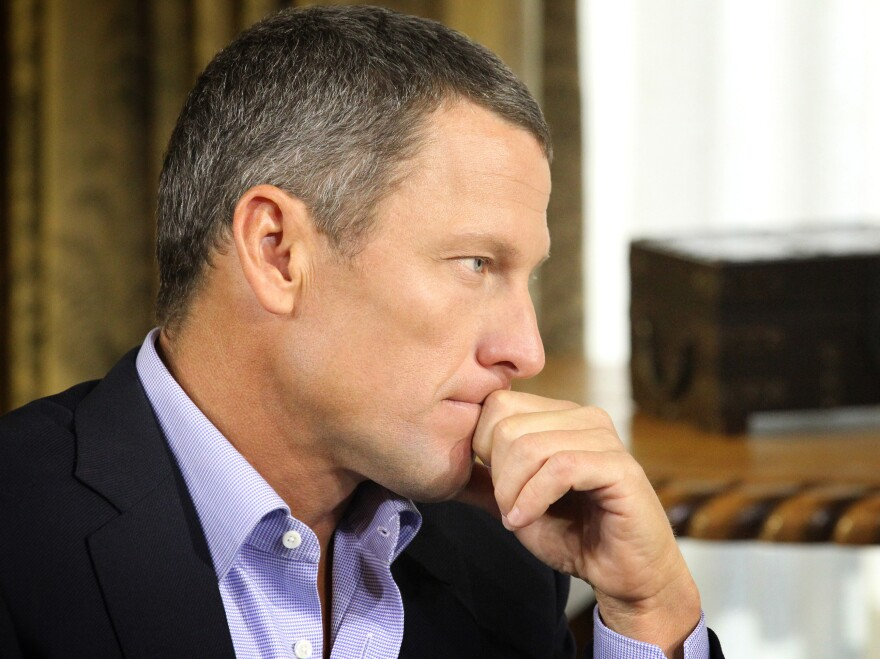 Lance Armstrong, during the interview with Oprah Winfrey that was recorded Monday and began airing Thursday night.