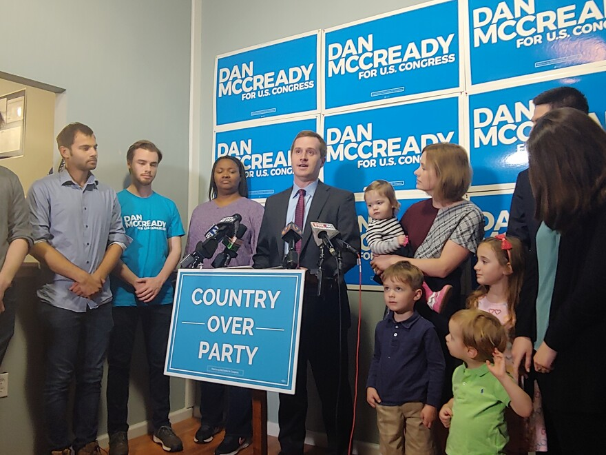 Democrat Dan McCready conceded the race for the 9th Congressional District seat to Republican Mark Harris on Wednesday evening.