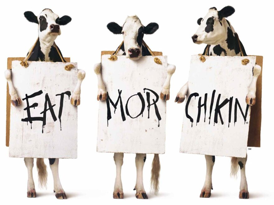 """Chick-fil-A launched its award-winning """"Eat Mor Chikin"""" ad campaign in 1995."""