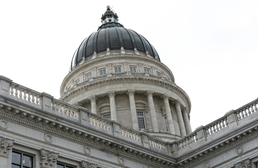 Photo of the dome of the Utah capitol building