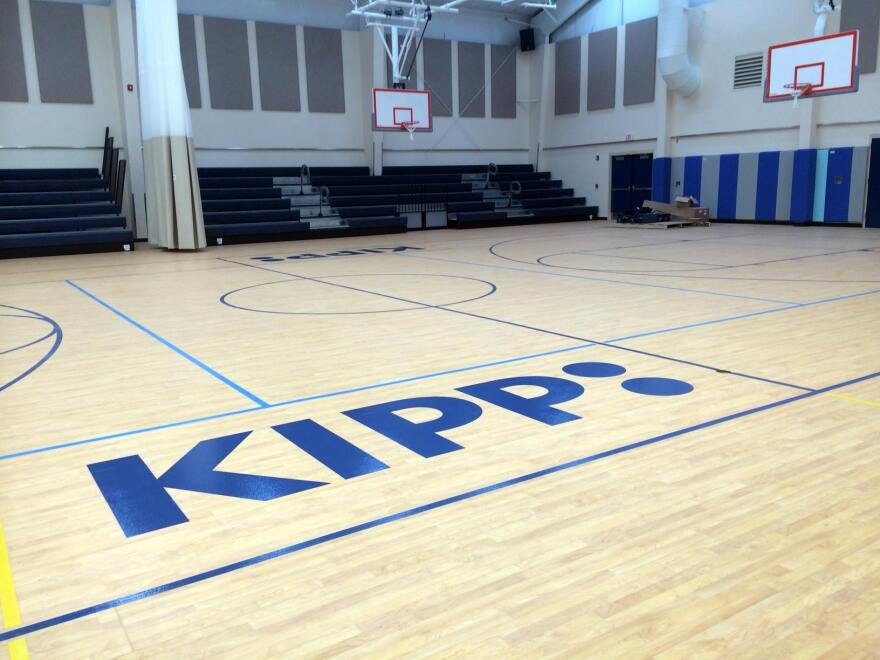 Shown here is a gymnasium on the Jacksonville campus of the national charter-school network KIPP. The academic struggles there have given local leaders pause on a plan to establish a new school in Liberty City.