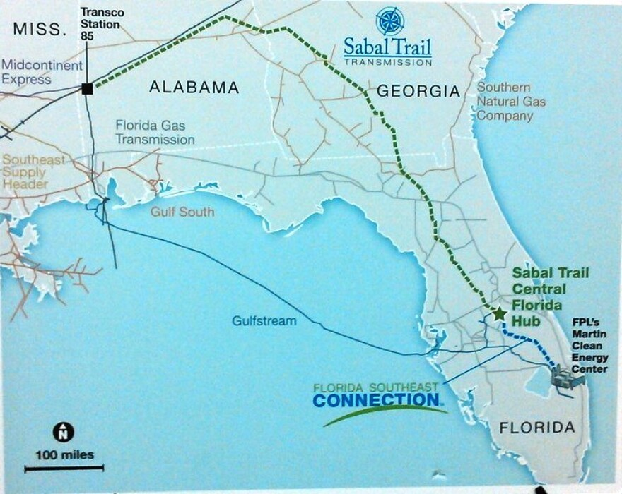 A map of Spectra Energy's pipelines in the Southeast U.S.
