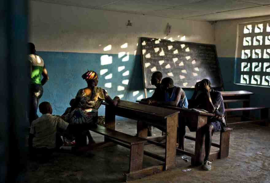 A schoolhouse on the Liberia-Ivory Coast border. March, 2011.