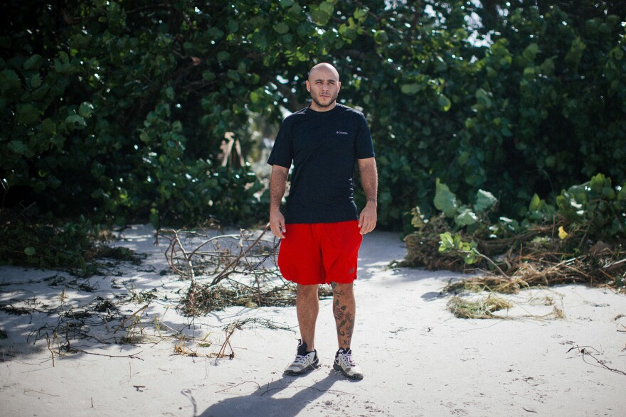 Naples resident Matthew Delagado, 26, says they were lucky the storm surge wasn't higher, but there's still a lot of cleanup to do. He walked down to Naples beach with friends to check on their families' homes.