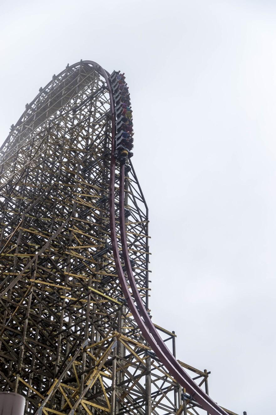 Steel Vengeance checks in at 205 feet tall.