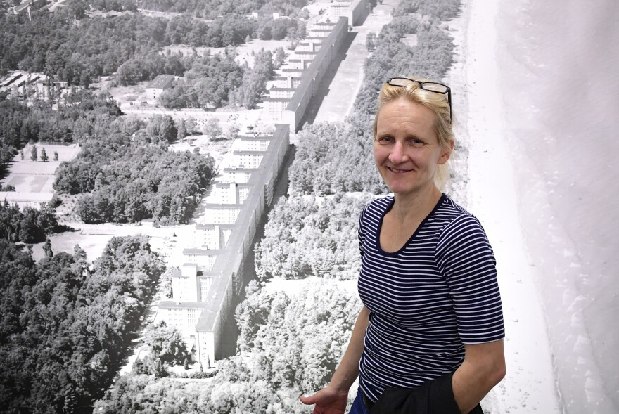 Katja Lucke, chief historian of the Prora resort complex on the German island of Ruegen, worries that redevelopment of the site as an upscale holiday destination glosses over a dangerous part of German history that shouldn't be forgotten. The Nazis built the complex in the 1930s, but abandoned it during World War II.